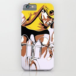 The yellow jersey (retro style cycling) iPhone Case