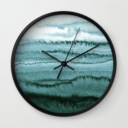 WITHIN THE TIDES - OCEAN TEAL Wall Clock