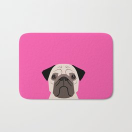 Taylor - Pug dog art phone case for pet lovers and dog people Bath Mat