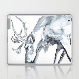 Watercolor Reindeer Sketch Laptop & iPad Skin