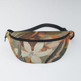 wild animals among flowers Fanny Pack