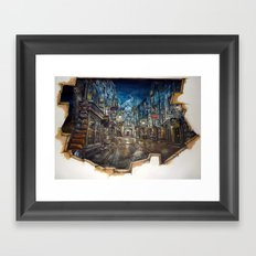 Breach to Diagon Alley Framed Art Print