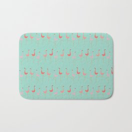 MARCH OF THE FLAMINGOS Bath Mat