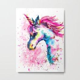 Pink Unicorn Metal Print