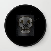 guns Wall Clocks featuring Guns & Bombs by BudgieTV