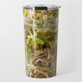 Many cereal sprouts growing Travel Mug