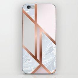 White Pastel Art Deco iPhone Skin