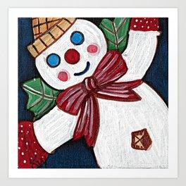 Santa Gave Him Holly Wings Art Print