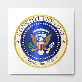 Constitution Day Seal Metal Print