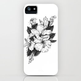 The Chinese Rose & The Tree Frog iPhone Case