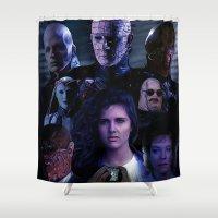 saga Shower Curtains featuring Hellraiser Saga by Saint Genesis