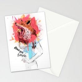 Animal Instincts Fox Stationery Cards