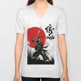 Samurai Warrior Unisex V-Neck