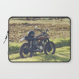 Moto guzzi, café racer, photo in south italy, man cave. Scrambler, fine art, motorcycle, motorbike Laptop Sleeve