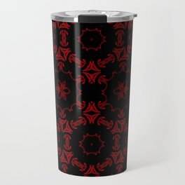 Red+Black Circled Travel Mug