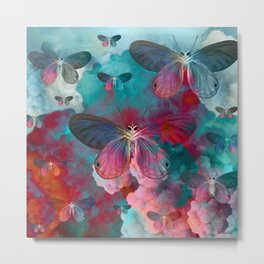 """Spring Butterfly love"" Metal Print"
