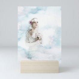 Girl with flowers in Sara Moon style Mini Art Print