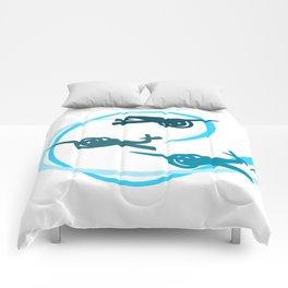 Blue Aerobatic Planes Comforters