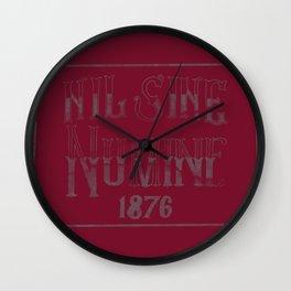 Nil Sine Numine Wall Clock