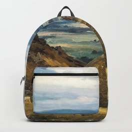 View of Lake Geneva from Pass de la Faucille - Theodore Rousseau Backpack