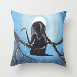 Reaper in the Moonlight  Throw Pillow