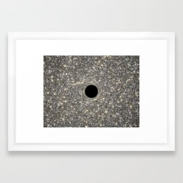 Black Hole Hubble Photograph Framed Art Print