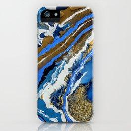 Blue Gold Geode iPhone Case
