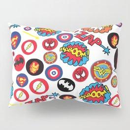 Superhero Stickers Pillow Sham