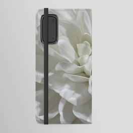 White Floral Android Wallet Case