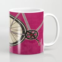 brompton Mugs featuring Single Speed Bicycle by Wyatt Design