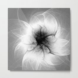Ghost Flower Fractal Metal Print