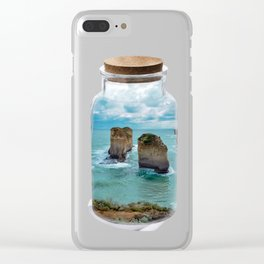 Bottled apposle Clear iPhone Case