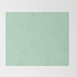 Summermint Pastel Green Mint Puffy Quilt Throw Blanket