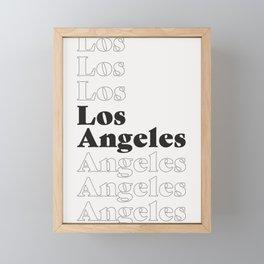 Los Angeles Type - Dark Framed Mini Art Print