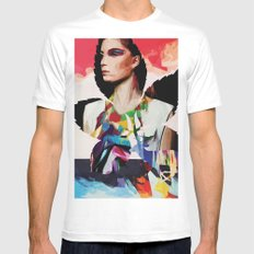 disappear Mens Fitted Tee MEDIUM White