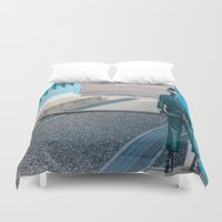korea Duvet Covers featuring Guarding the MDL_South Korea by Jennifer Stinson