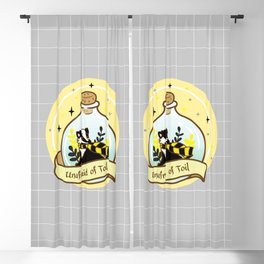 Yellow Badger In The Bottle Blackout Curtain