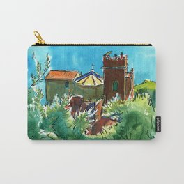 View of the sea and Monastery of Santa Croce, Liguria Carry-All Pouch