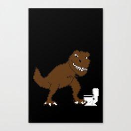 Jurassic Pixel Canvas Print