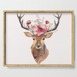 Bohemian Deer Serving Tray