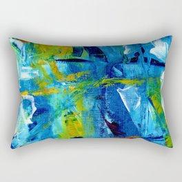 Bluesky painting part 1 #eclecticart Rectangular Pillow