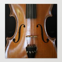 violin Canvas Prints featuring Violin by Päivi Vikström