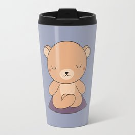 Kawaii Cute Yoga Bear Travel Mug
