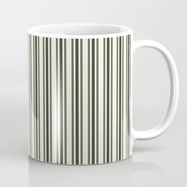 Large French Beige Mattress Ticking Black Double Stripes Coffee Mug
