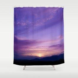 SW Mountain Sunrise - 7 Shower Curtain
