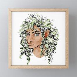 Female elf profile 1a Framed Mini Art Print