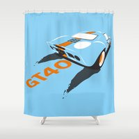 ford Shower Curtains featuring Ford GT40 by VelocityGallery