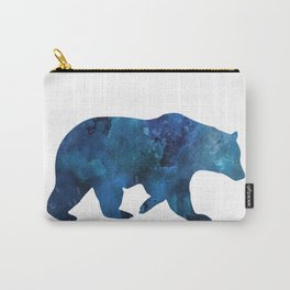 Watercolour Bear Blue Carry-All Pouch