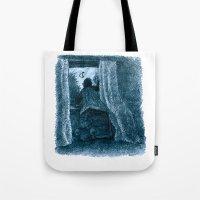 peter pan Tote Bags featuring peter pan by jenapaul