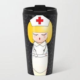 Kokeshi Blonde nurse Travel Mug